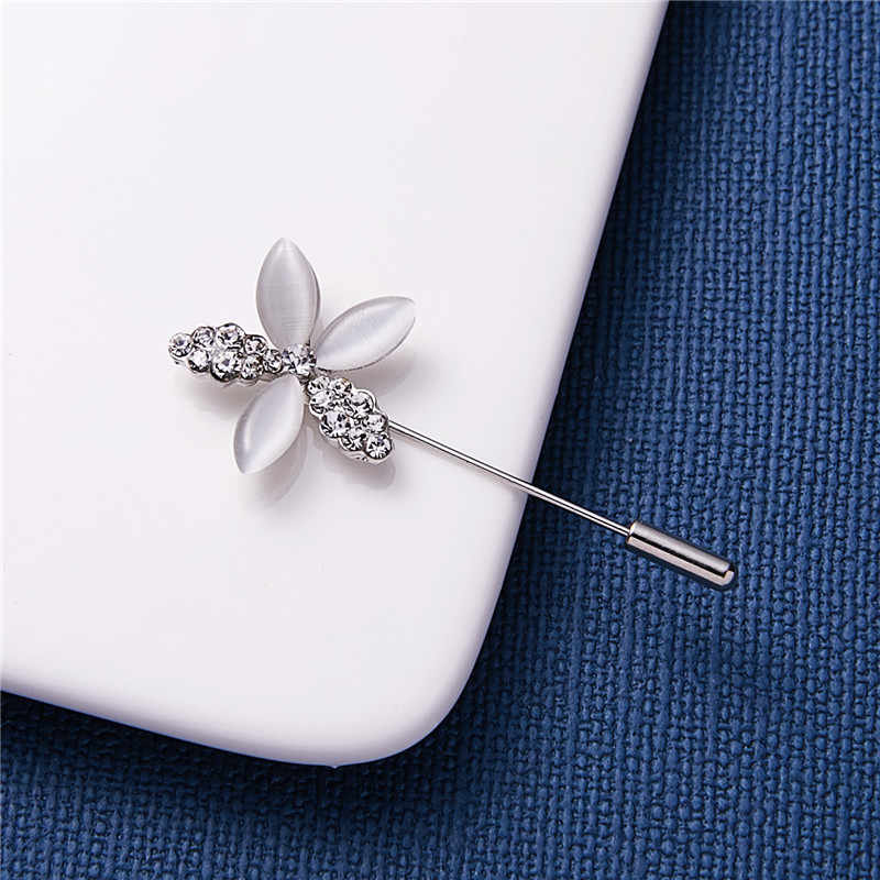 Rinhoo Trendy Popular  Vintage Hollow Crystal Rhinestone Needle Brooch For Women Jewelry Gift For Girlfriend