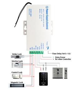 Image 4 - Sistema de Control de Acceso de puerta CC, 12V, interruptor de fuente de alimentación de 3A 5A / AC 110 ~ 260V, sistema de Control de acceso RFID de huellas dactilares