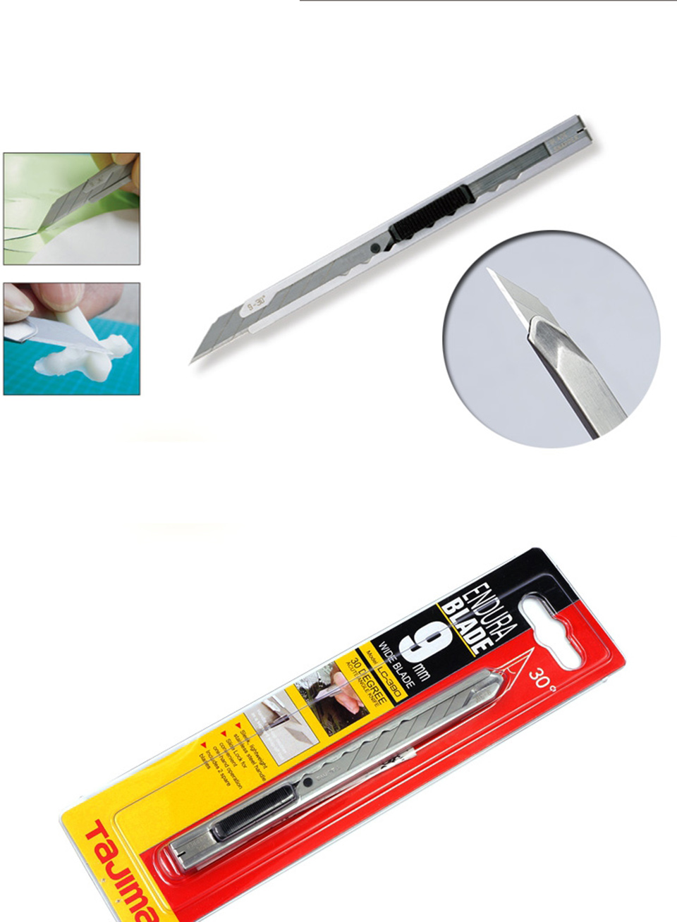 Image 4 - Car Vinyl Wrap Film Installation Tools 30 Degree Stainless Steel Precision Cutting Knife  LC 390B-in Car Stickers from Automobiles & Motorcycles