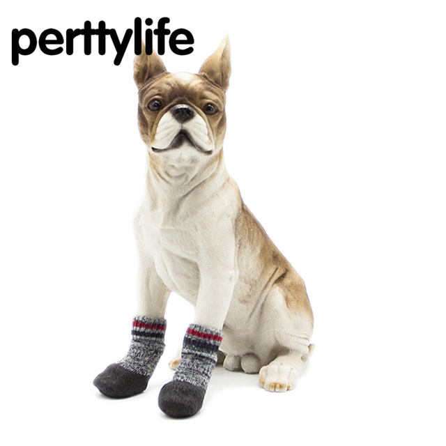 PERTTYLIFE 2018 new pet fall winter terry padded warm waterproof pet dog  socks non-slip dirt dog shoes pure cotton DS34 b1c2dbe33761