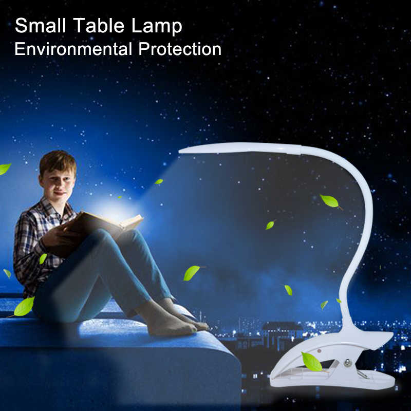 USB led book light LED Desk Table Lamp with Clip Touch Switch night Light Eye Protection USB Rechargeable LED Desk Table lamp