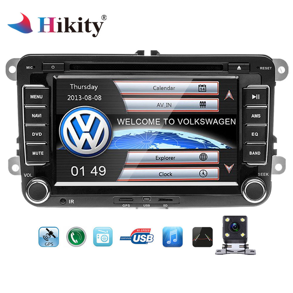 Hikity Car Multimedia player 2 Din Car DVD Automotivo GPS radio stereo player For Volkswagen/POLO/PASSAT/SEAT/Skoda Autoradio isudar car multimedia player automotivo gps autoradio 2 din for skoda octavia fabia rapid yeti superb vw seat car dvd player