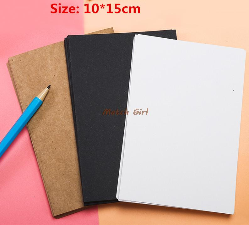 100pcslot 1015cm blank white black kraft paper for business card 100pcslot 1015cm blank white black kraft paper for business card message card word cards diy greeting cards watercolor cards m4hsunfo