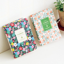 Vintage Weekly Planner Floral Schedule Dairy Book PU Leather Notebook Lovely Stationery Kawaii School Office Supplies for Girls kawaii cartoon weekly planner coil notebook schedule agenda kids gift stationery for school office
