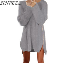 SINFEEL 4XL Women Christmas Sweaters And Pullovers Long Sleeve Knitting Sweater Casual Winter jumper Pull Femme Plus Size