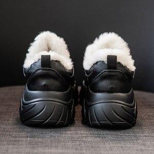 Image 4 - Swyivy chunky white sneakers 여성 캐주얼 신발 여성 운동화 2019 따뜻한 겨울 패션 가죽 플랫폼 snow ladies shoe plush