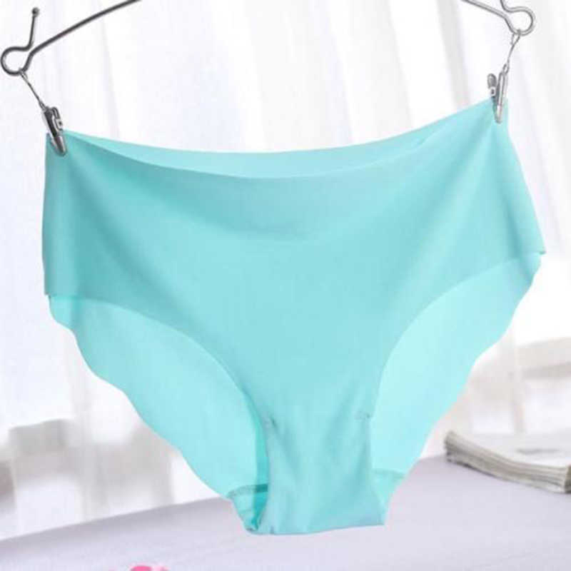 2017 New Arrival 7 Colors Sexy Solid Invisible Seamless Soft Thongs Lingerie Briefs Hipster Underwear Women Panties