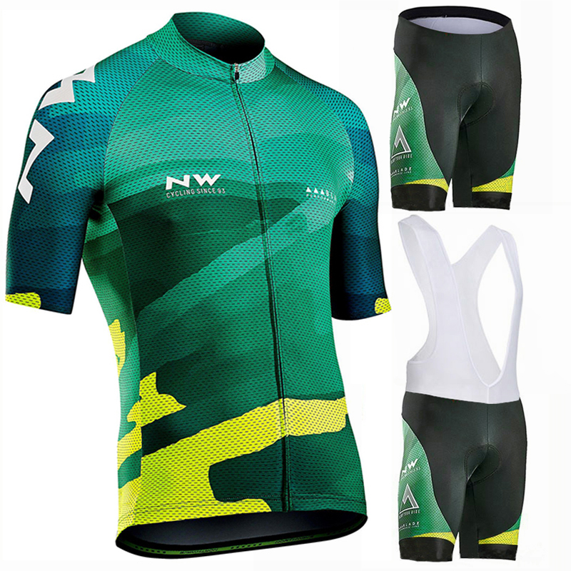 2019 Summer Quick-Dry Cycling Jersey Set MTB Road Bicycle Cycling Clothing Breathable Mountain Bike Clothes Cycling Set