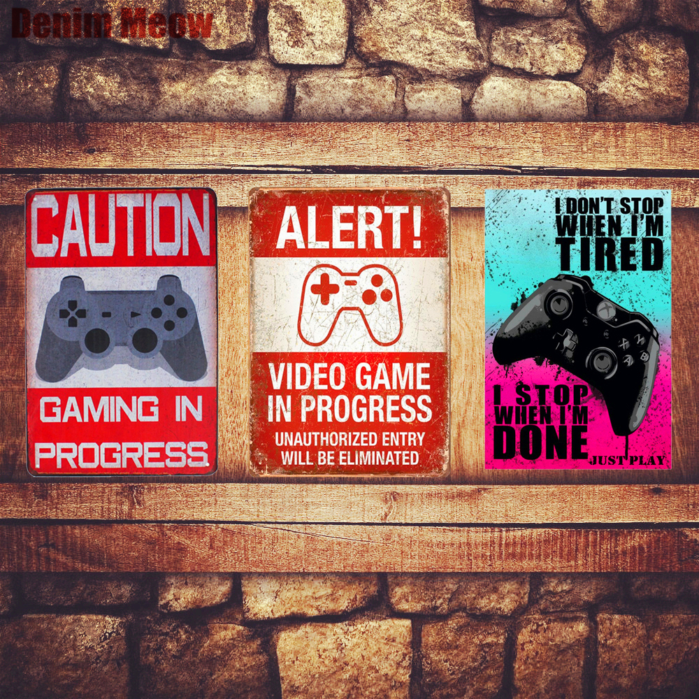 ALERT Plaque Vintage Metal Tin Signs Home Bar Pub Decorative Metal Plates Game In Progress Wall Stickers Art Poster Gift N204 signs