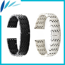 Stainless Steel Watch Band 22mm for Casio BEM 302 307 501 506 517 EF MTP Series Strap Wrist Loop Belt Bracelet Black Silver