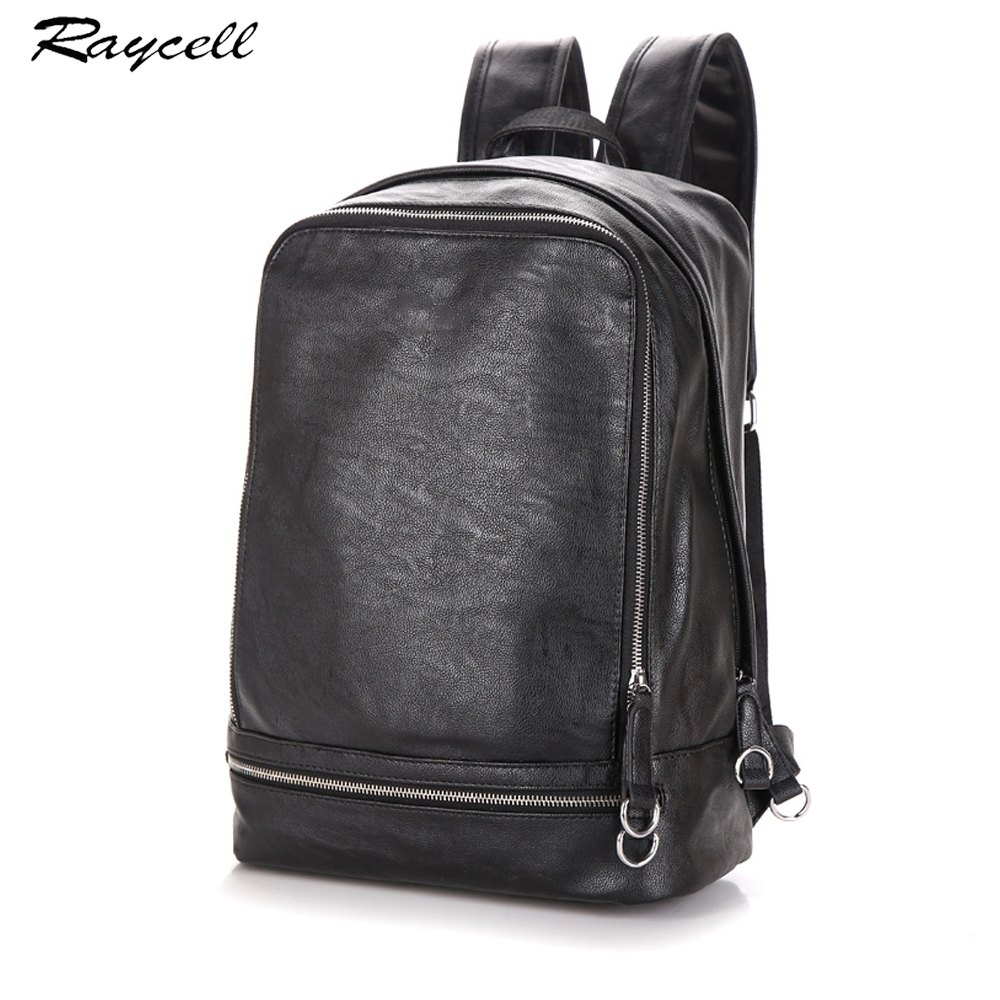 Backpack Men Brand Design Waterproof 15.6 Inch Laptop PU Leather Men Backpacks For Men High Quality Casual Male Travel Bag voyjoy t 530 travel bag backpack men high capacity 15 inch laptop notebook mochila waterproof for school teenagers students