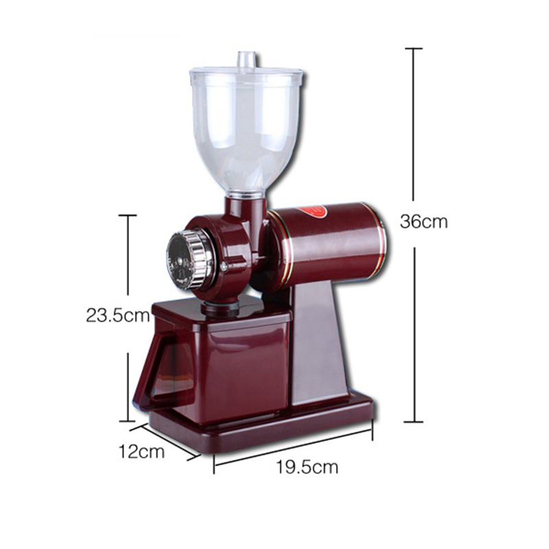 Best electric red burgundy color coffee grinding machine burr mill grinder 220V 110V