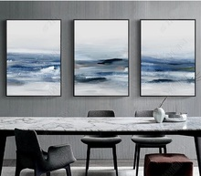 Abstract Ink Sea Nordic Posters Large Canvas Wall