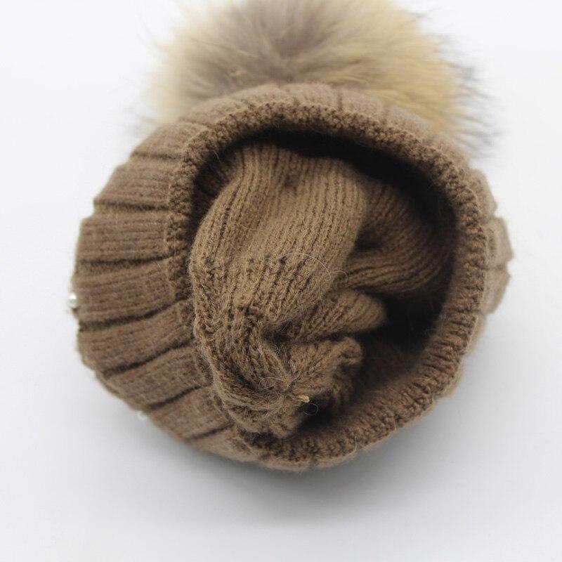 Կանացի մորթուց Pompom Hat Տիկնայք - Հագուստի պարագաներ - Լուսանկար 6