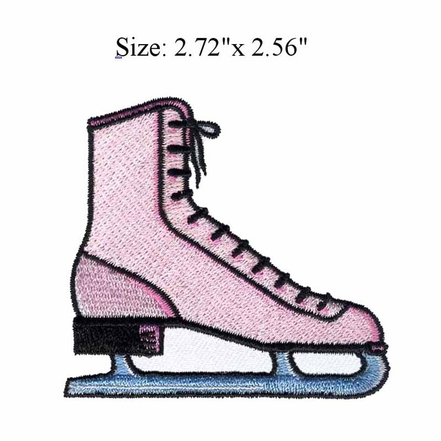 ICE SKATE 272wide Embroidery Patch For SKATING PRINCESS Go Figure Jump