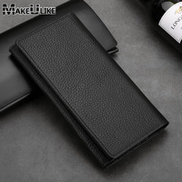 MAKEULIKE For OnePlus 5 Wallet Case Genuine Leather Universal Pouch For OnePlus 5T 3 Huawei Lenovo