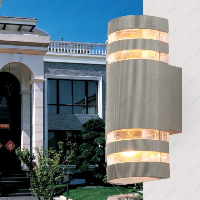 12w led cob exterior wall sconces updown light fixture semi 12w led cob exterior wall sconces updown light fixture semi cylindrical lamp yard aloadofball Gallery