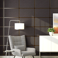 Modern Simple Marble Square Lattice 3D Stereoscopic Non Woven Wallpaper Living Room Sofa Bedroom TV Background