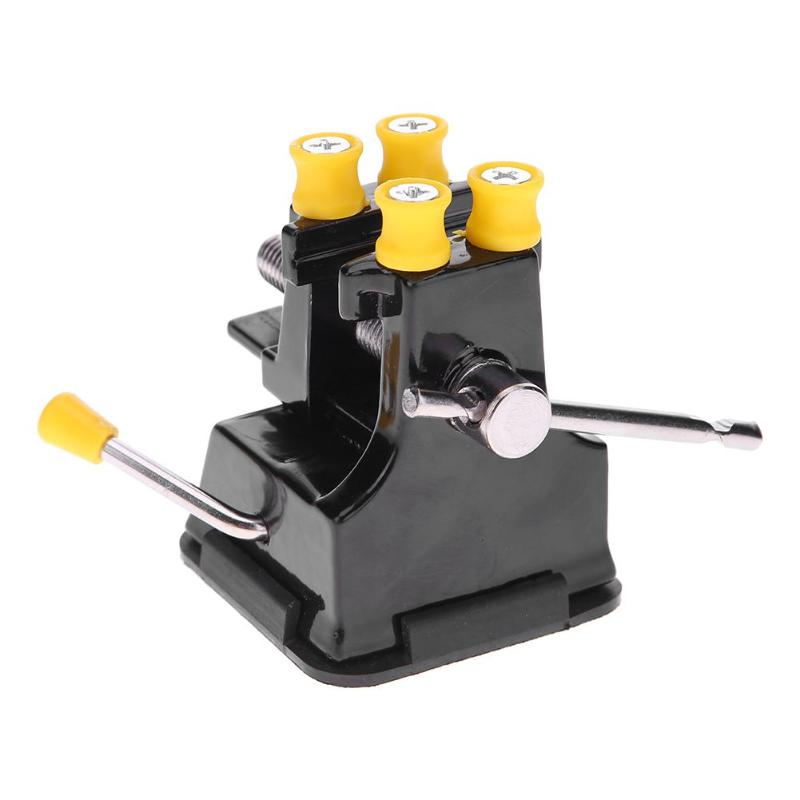 Mini Aluminum Alloy DIY Metal Table Bench Vise Suction Clamp Table Vice for Repair Welding Tool and Disassembly Carving Fixture