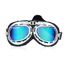 New Arrival Vintage Anti-UV motorcycle bike Scooter Pilot Goggles Helmet glasses Motocross Steampunk Cruiser Eyewear