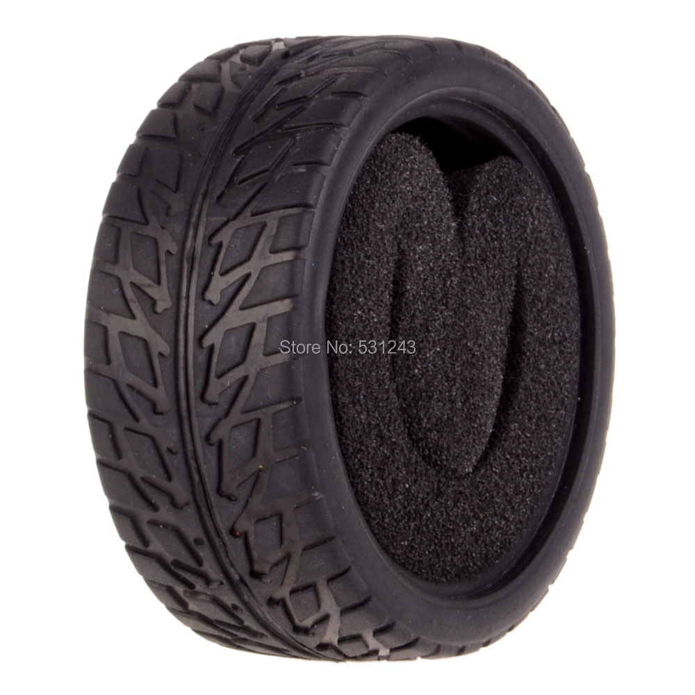High Grip Rubber Tires For 1/10 RC model on-road Car  HSP HPI HIMOTO Racing Racing  1.9″ Tyre 6088