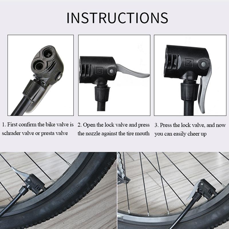 RAD UP Fahrradpumpe Manometer Tragbare Ultraleichte Pumpe - Radfahren - Foto 6