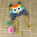 Новорожденный Ребенок Младенческой Cap Малышей Вязаная Шапка Зимняя Крючком Cute Owl Шляпы Шапки 0-18 М Капот Enfant 1 ШТ.