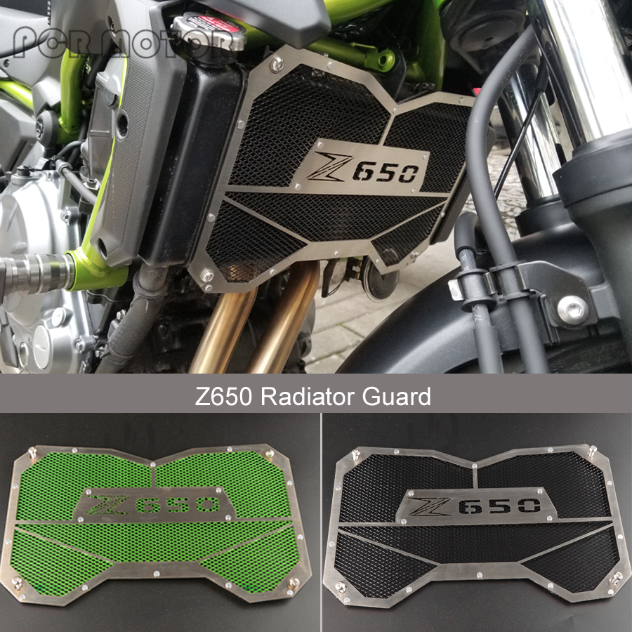 New Arrival For KAWASAKI Z650 Z 650 2017 304 Stainless Steel Radiator Protective Cover Grill Guard