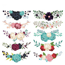 Flower Patches For Clothing DIY Accessory Decoration Iron On T-shirt Dresses Patch 10pcs/lot A-level Washable