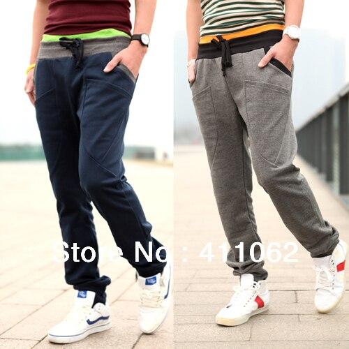 2012 Autumn New Offer! casual pants for men womens ,fashion cool harem pants,sweat pant,Dual waist design 4 Color S-XXL