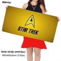Star Trek Logo Pattern Custom Made Durable Gaming Anti Slip Silicone Mouse Pad Notebook Computer Lock