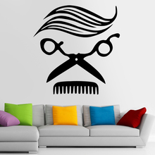 Man Barber Shop Sticker Name Chop Bread Decal Haircut Hair Clipper Shavers Poster Vinyl Wall Art Decals Decor Windows Decoration