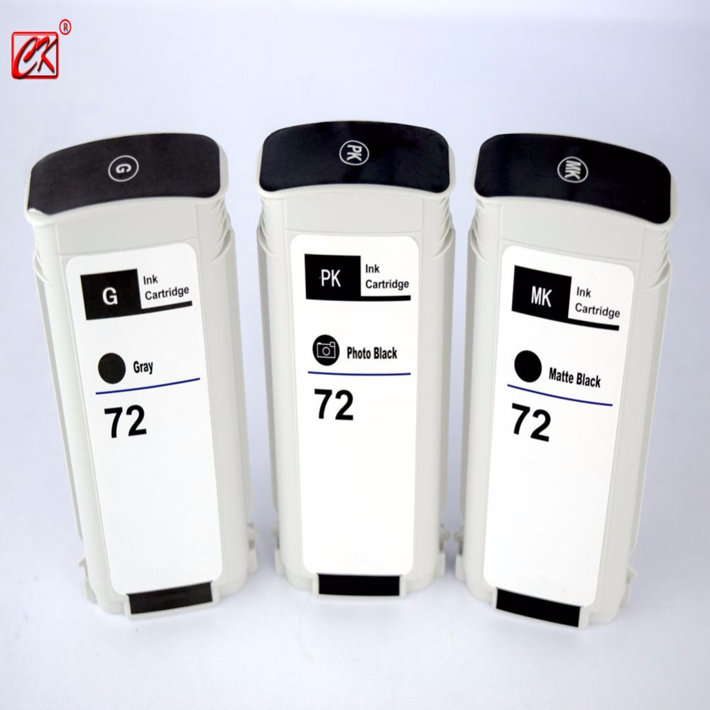 3PK hp 72 Compatible ink cartridge for HP72 Designjet T1100/2300/T610/ T620/T770/T790/T1120/T1200/ t1300/T2300 compatible ink cartridge for hp 72 full ink for hp designjet t610 t770 t795 t1100 t1120 t1200 t1300 t2300 printer ink cartridges