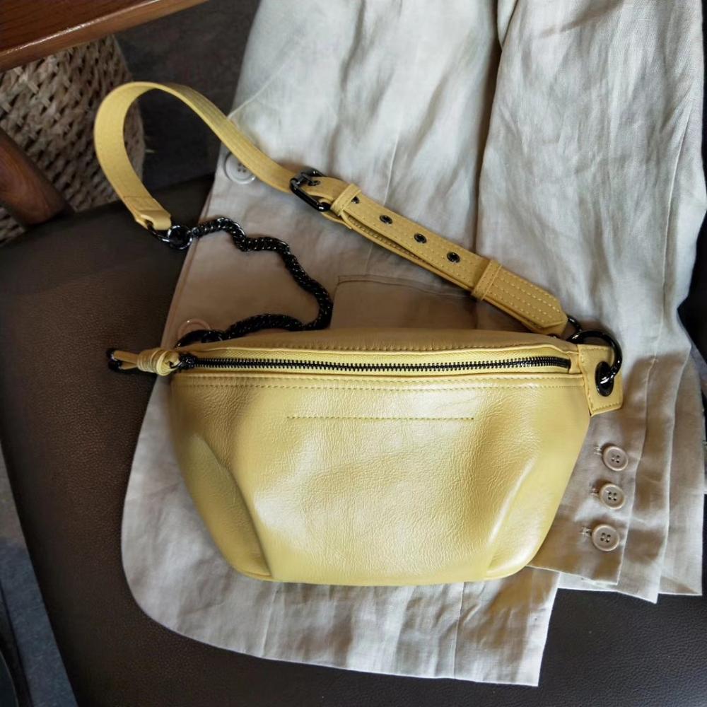 Echte Koe Lederen heuptasje voor vrouwen heuptas waterdicht belt bag purse fashion geld riem dames schoudertas keten vrouwelijke-in Heuptasjes van Bagage & Tassen op  Groep 3