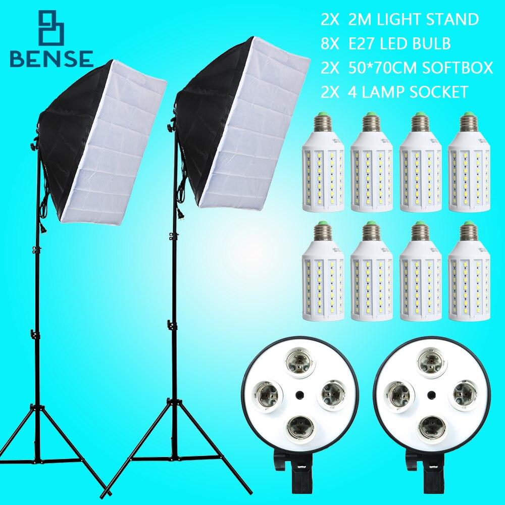 bilder für 20 watt E27 Led-lampen Fotografie Beleuchtung Kit Foto Ausrüstung + 2 STÜCKE Softbox Licht Box + Lichtstativ Für Studio porträtfotografie