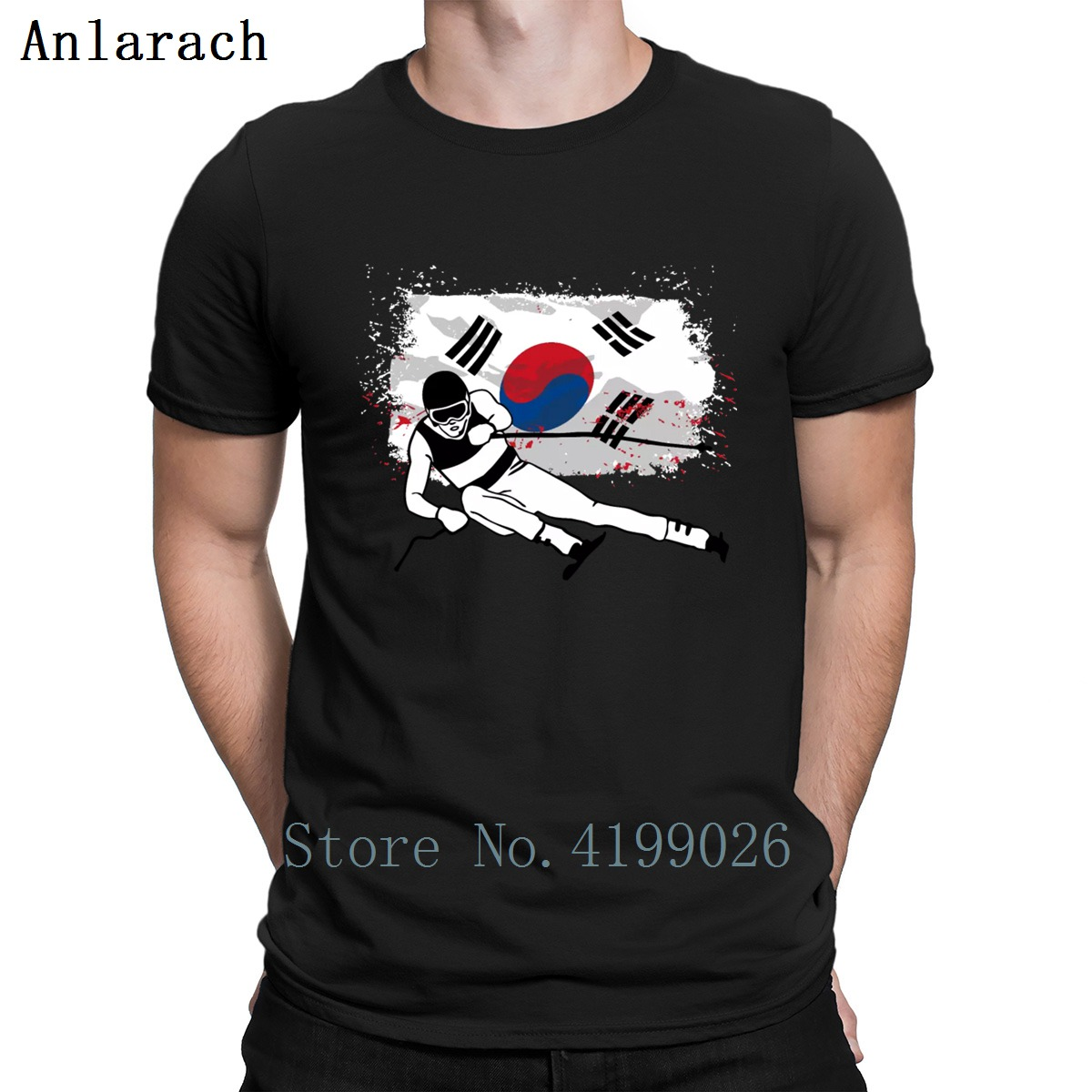 Alpine Ski South Korea Flag T-Shirt Funny Unisex Pictures Cotton Hilarious T Shirt For Men Summer Style Designs Tops