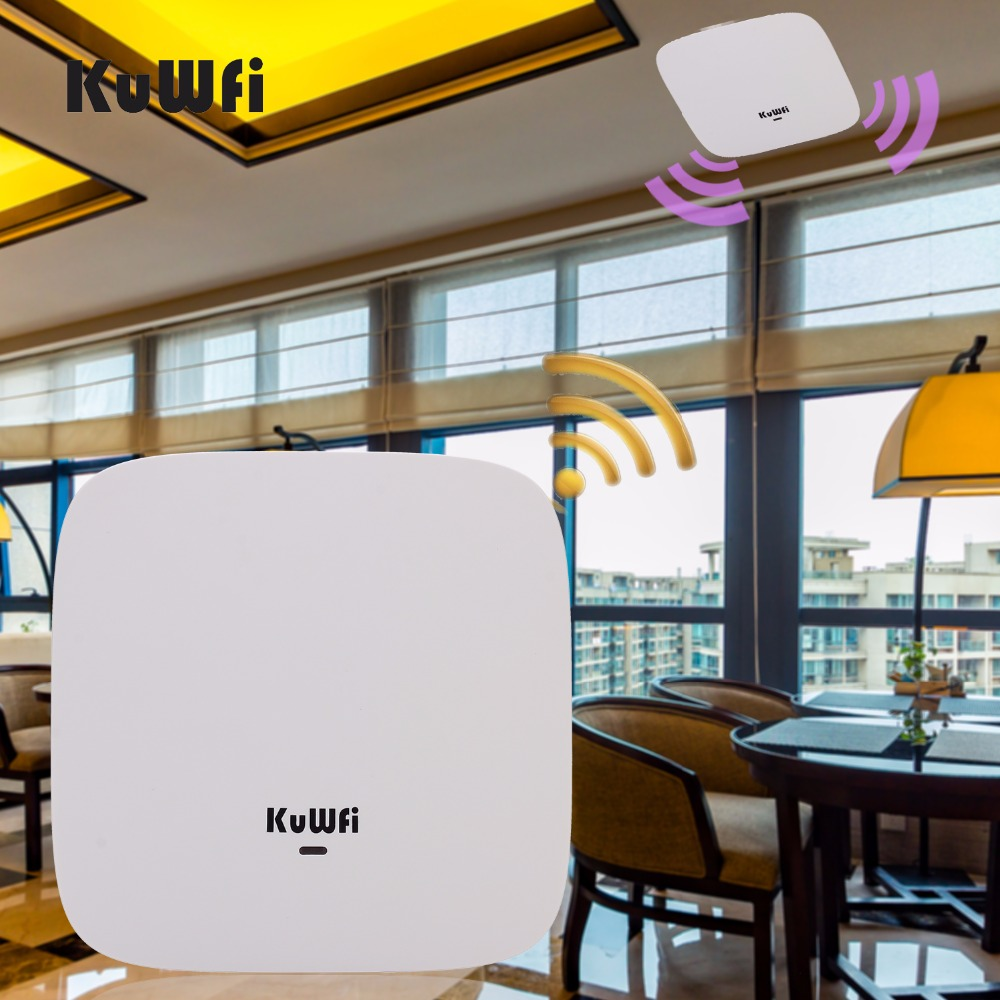 KuWFi 750Mbps Ceiling AP Router Dual Band 802 11ac AP Router Indoor Wireless Wifi Router Wifi