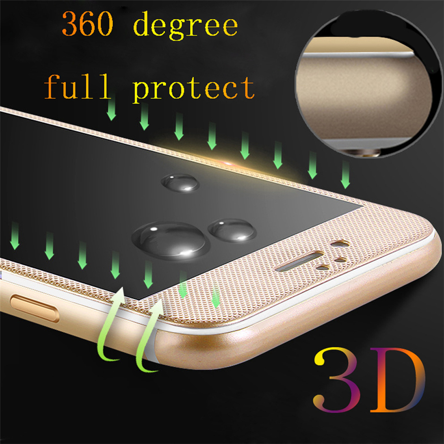 Tempered Glass For iphone 6 6s 6s Plus 7 7 Plus Carbon Fiber Ultrathin 0.3mm 9H 3D Full Cover Toughened Screen Protector Case