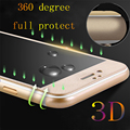 Vidrio templado para el iphone 6 6 s 6 s plus 7 7 plus Fibra de carbono Ultrafino de 0.3mm 9 H Templado Protector De Pantalla de La Cubierta Completa 3D caso