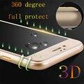 Vidro temperado para iphone 6 6 s 6 s plus 7 7 plus Ultrafinos 0.3mm 9 H 3D Cobertura Completa de Fibra De carbono Protetor de Tela Temperado caso
