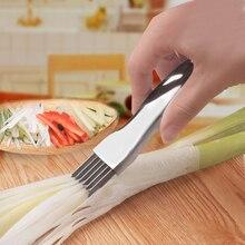 Зеленый китайский лук из нержавеющей стали измельченный многофункциональный измельчитель кухонный гаджет