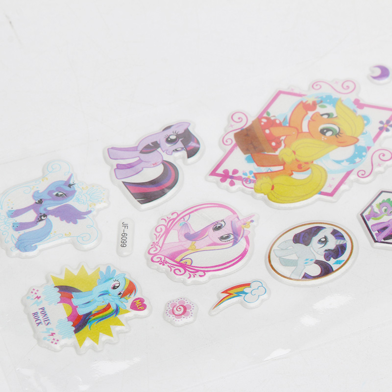 Image 4 - 2019 6pcs/set PVC Pony Stickers My Little Pony Toys Pack Children Girl Nail Stickers 3D Rainbow Dash Twilight Sparkle Pinkie Pie-in Action & Toy Figures from Toys & Hobbies