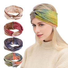 1Pc New Bohemian Headband Sports for Women Vintage Cross Knot Elastic Hair Bands Soft Girls Hairband Accessories