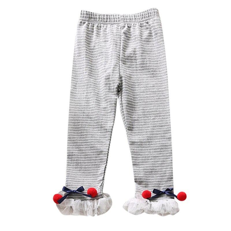 Детские леггинсы для девочек бант для новорожденного кружева детские милые эластичные теплые брюки принцессы - Цвет: QH