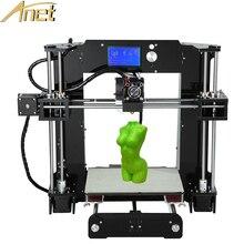 Новая версия anet большой размер печати 3d комплект принтера reprap Prusa i3 ПОДЕЛКИ С Алюминиевым Очагом 10 м Нити SDCard ЖК и видео