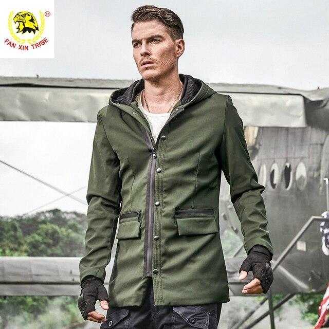 con estilo Militar hombres coat estilo Trencas ejército Abrigos nwqSqIX