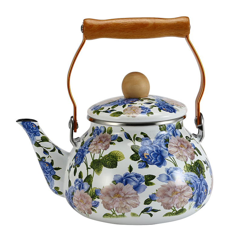 1 5L Korea Style kettle Portable Enamel Tea pot Can Be Used On Electromagnetic Oven Or