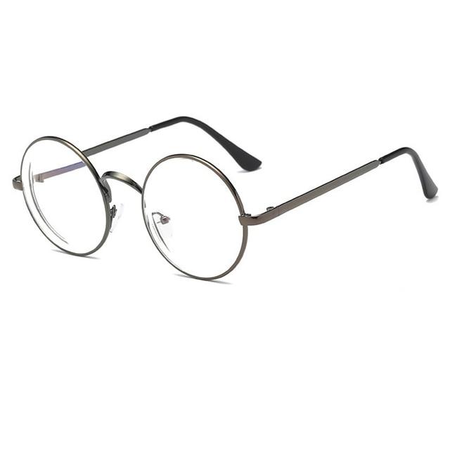 0509b87e52c New Round metal Finished Myopia Eyeglasses Optical Men Women student coated  lens prescription Glasses 5 colors