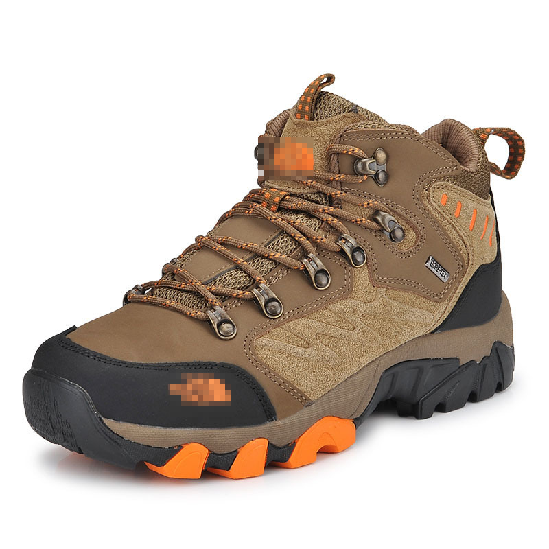 Autumn and winter men 's outdoor hiking shoes high to help waterproof warm travel shoes yin qi shi man winter outdoor shoes hiking camping trip high top hiking boots cow leather durable female plush warm outdoor boot