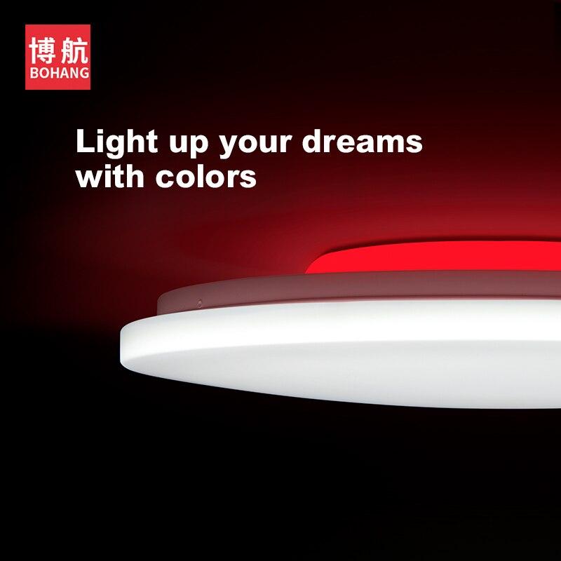 Современный светодиодный умный потолочный светильник с управлением через приложение RGB затемнение 36W48W Bluetooth динамик AC85V 265V, светодиодный потолочный светильник s - 3